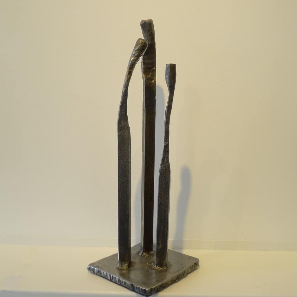 "Abstrakte Metallskulptur ""Familie"", Höhe 44,5 cm, Thomas Levin"
