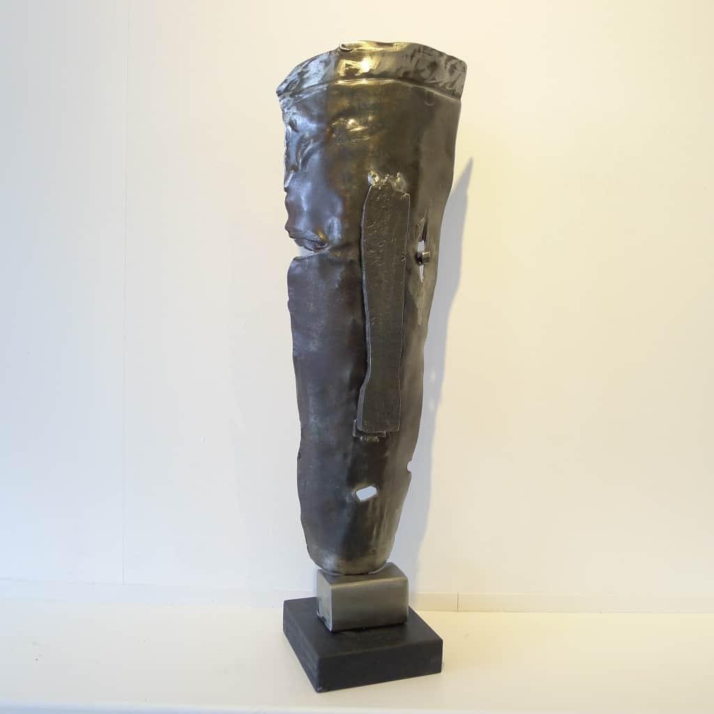 "Abstrakte Metallskulptur ""Belfegoran"", Höhe ca. 55 cm, Thomas Levin"