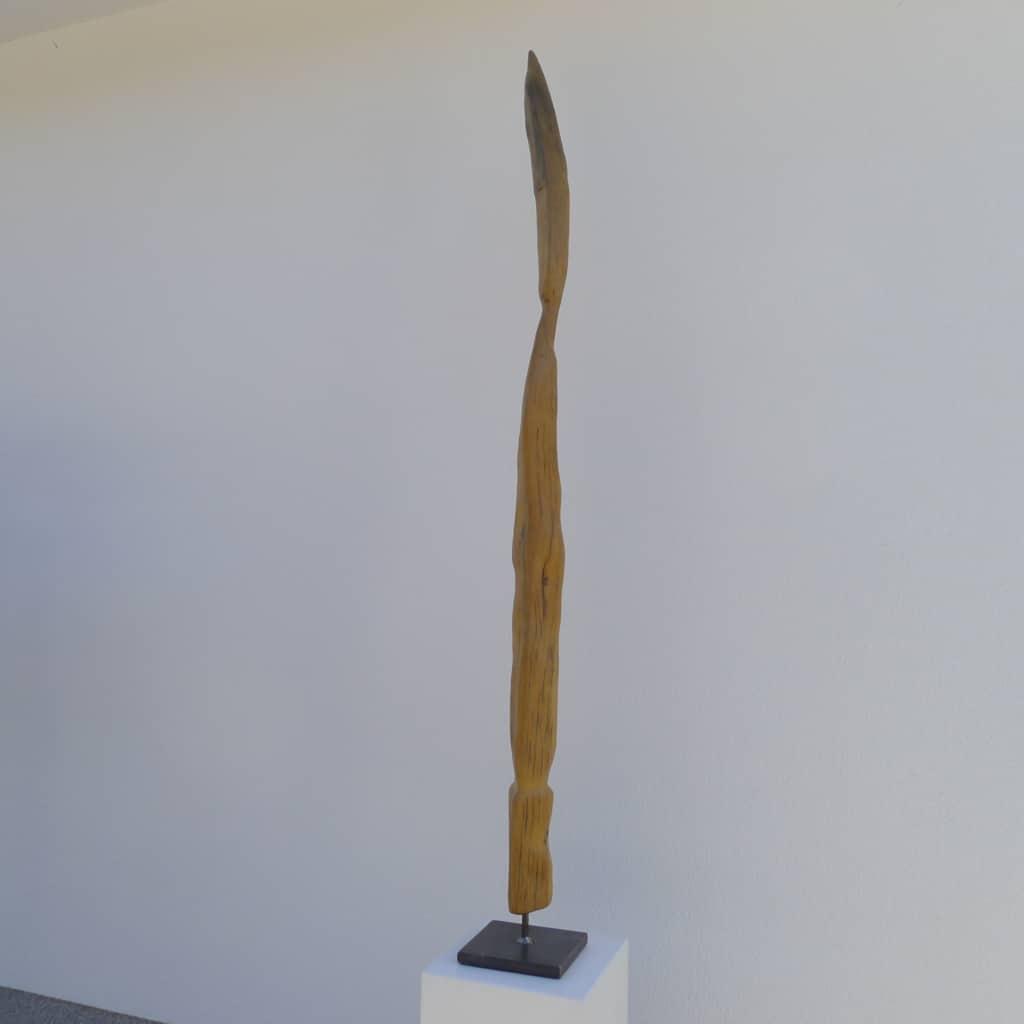 Objekt Bongobongo Holz auf Stahl von Thomas Levin