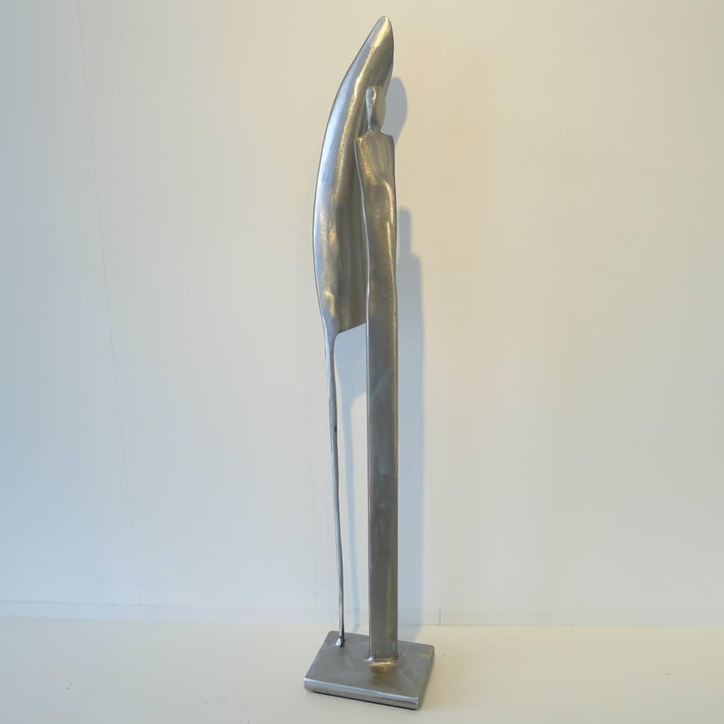"Metallobjekt ""Anlehnend"", Höhe 65 cm, Thomas Levin"