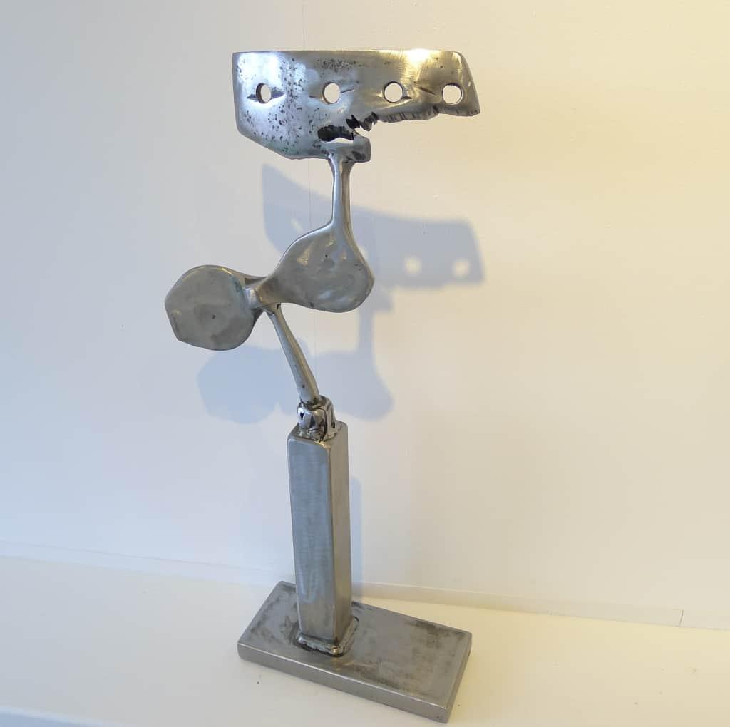 "Metallskulptur ""Nestflüchter"" Höhe 53,5 cm, Thomas Levin"
