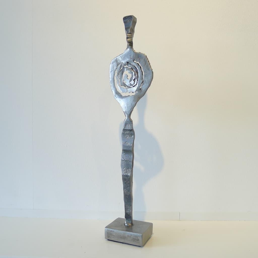"Metallskulptur ""Zentriert"", Höhe ca. 44 cm, Thomas Levin"