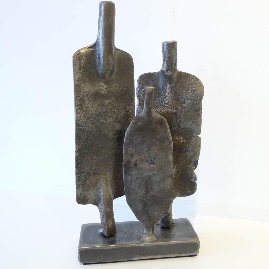 """Metallobjekt """"Zusammenhaltend"""", Höhe ca. 27 cm, Thomas Levin"""