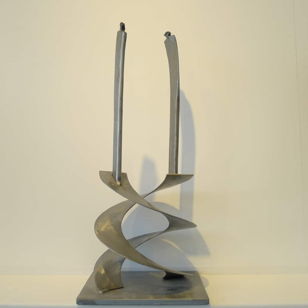 """Skulptur """"Sich umkreisend"""", Höhe ca. 54 cm, Thomas Levin"""