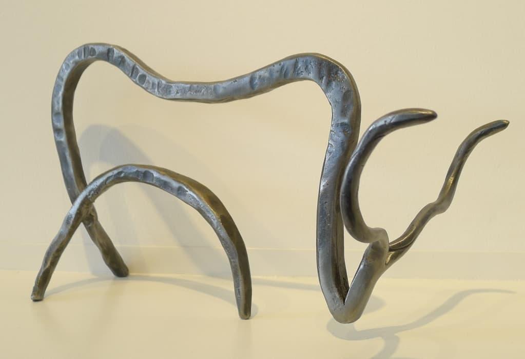 "Moderne Skulptur aus Metall ""Toro"", Thomas Levin"